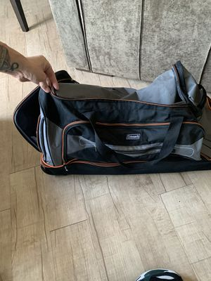 Nice Coleman Duffle Travel Bag on Wheels for Sale in Huntington Beach, CA
