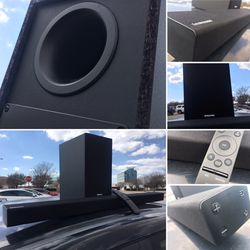 SAMSUNG BLUETOOTH SOUNDBAR WITH WIRELESS POWERED SUBWOOFER for Sale in Dallas,  TX