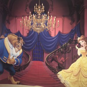 Beauty And The Beast Back Drop And Chandelier Decor for Sale in Justice, IL