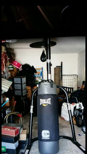Everlast punching bag with speed bag for Sale in Paterson, NJ