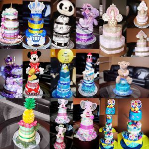 Diapers cake, bouquets, baskets and centerpieces for Sale in Canton, MI