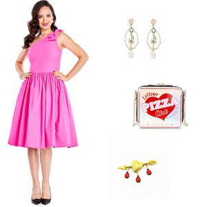 Cute vintage pinup rockabilly dresses, purses, broaches - FREE SHIPPING for Sale in Grand Terrace, CA