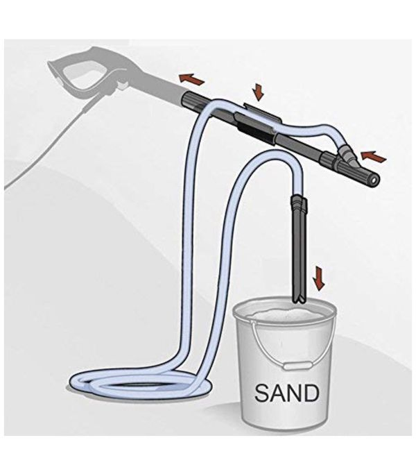 """Pressure Washer DIY Wet Sand Blaster Kit with 1/4"""" Quick Release Plug"""