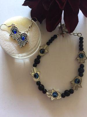 Hamsa bracelet and earring set. for Sale in Denver, CO