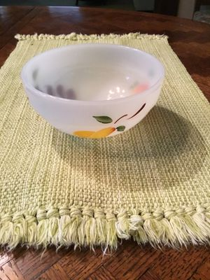 6 in. Hand Painted FireKing Bowl for Sale in Waynesburg, PA