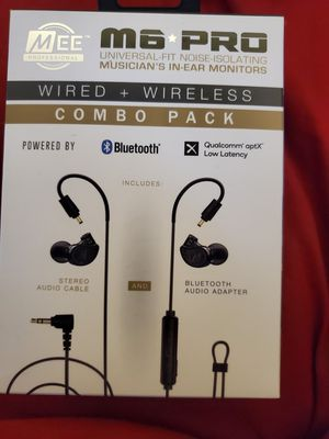 Mee Audio M6 Pro Bluetooth Headphones Combo Pack for Sale in Independence, MO