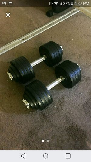 50lb each, adjustable dumbbells. for Sale in Whittier, CA