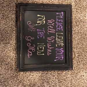 Wedding Decoration Sign for Sale in Grayslake, IL