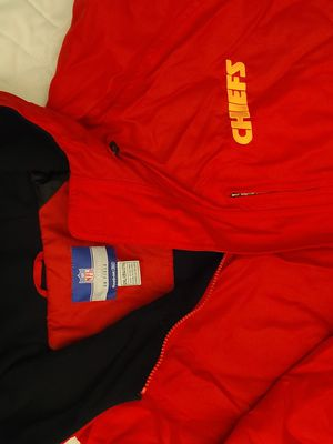Lightly used KC Chiefs Jacket sz Xxl runs $24 Big/wide, by Reebok. Zippers & velcro front for Sale in Henderson, NV