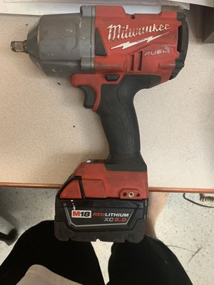 1/2 Milwaukee fuel impact gun with battery for Sale in Worth, IL
