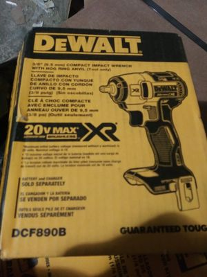 New Dewalt xr max impact wrench 20 volt for Sale in Cedar Grove, NJ