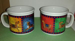 Vintage GIFTCO Jumbo Christmas Reindeer Mugs for Sale in Silver Spring, MD