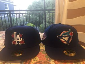 Hat Club Red Roses LA & Blue Jays Pink Bottom for Sale in Los Angeles, CA