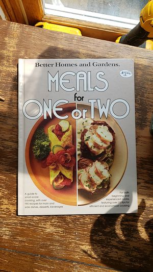 Meals for one or two cookbook for Sale in Caro, MI