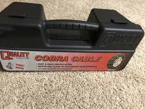 Quality Chain Cobra Snow Traction Tire Chains (1046) with Rubber Tightener for Sale in Leesburg, VA