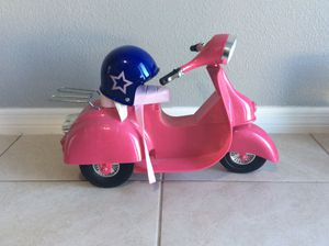 American girl doll motorcycle (barely used) for Sale in Haines City, FL