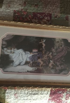 Sleeping woman with angels picture for Sale in Hemet, CA