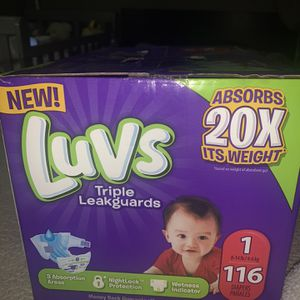 Diapers Luvs Size 1 (116ct) for Sale in Los Angeles, CA