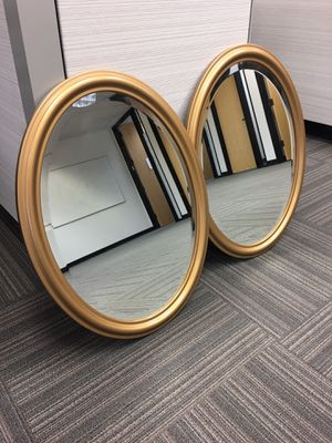 2 NICE GOLD FRAMED MIRRORS for Sale in Mountain View, CA