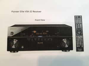 Pioneer Elite VSX-32 Receiver for Sale in Springfield, VA