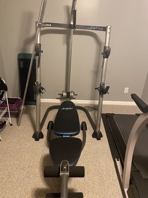 Weight rack+barbell for Sale in Kennesaw, GA