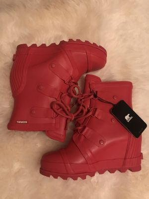 NWT Hard to Find Red Sorel Wedge Rain Boot for Sale in Lake Shore, MD