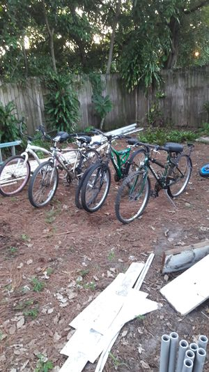 Four junk bicycles $20 all as is!!! for Sale in Pompano Beach, FL