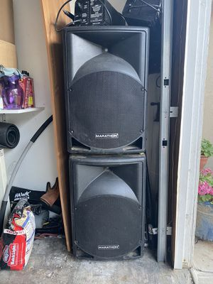 DJ Set Up with Marathon speakers for Sale in San Fernando, CA