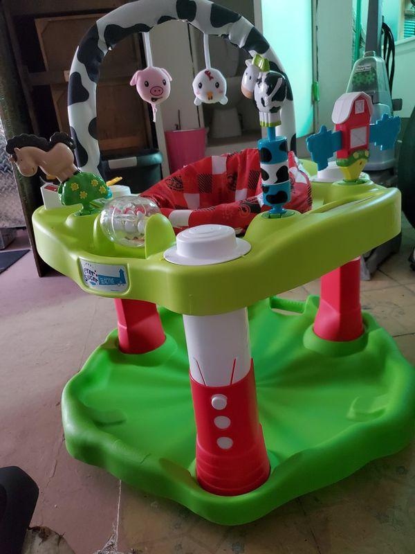 Exersaucer baby active, farm animal jumper