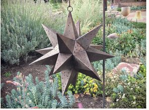 Large vintage punched metal star candle holder Moravian star rustic home decor for Sale in Alexandria, VA