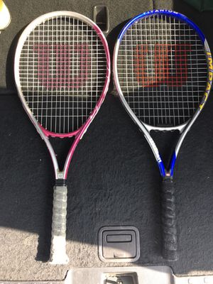 Wilson Tennis Rackets, 4 pcs for Sale in Baldwin Park, CA