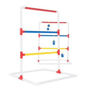 Ladder Toss Outdoor Game, Two PVC Game Sets with 6 Bolas and Carrying Case for Kids and Adults by Hey! Play! for Sale in Houston, TX