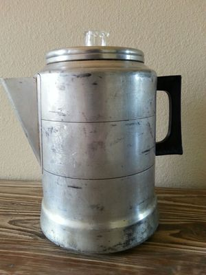 Camping Coffee pot 9 cup coffee maker best of all made in the usa by Comet for Sale in Kalama, WA
