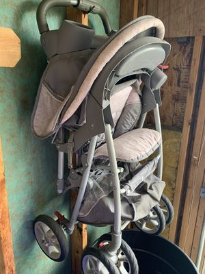 Pink/Gray Stroller with Infant Car Seat for Sale in Rockford, IL