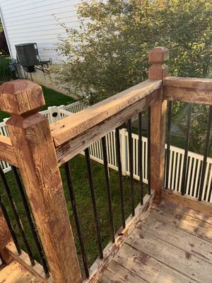 Wooden deck fence for Sale in Arnold, MO