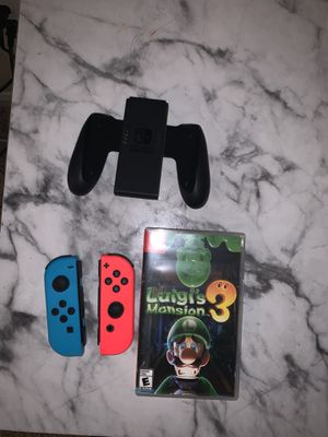 Nintendo switch joycons luigis mansion 3 bundle for Sale in San Antonio, TX