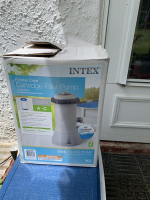 Intex krystal clear cartridge pump never used set up but not used brand new. for Sale in Romansville, PA