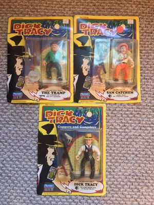 Vintage Lot Of 3 Dick Tracy Action Figures for Sale in Braintree, MA