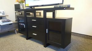 Alex Buffet/TV Stand Black up to 70in TVs for Sale in Garden Grove, CA