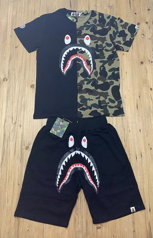 Bape Set Black/Camo T shirt and Shorts for Sale in Houston, TX