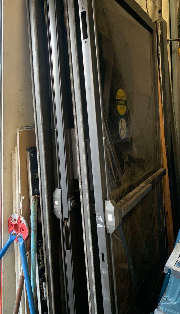 Glass front doors.