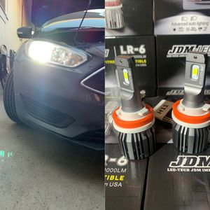 Original Led headlight 1 year warranty with me free installation to most cars for Sale in San Bernardino, CA