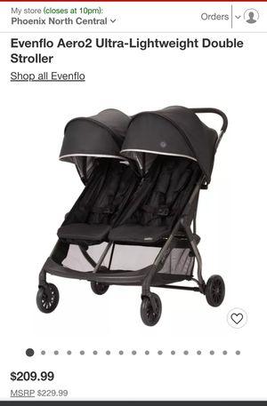 NEW Evenflo Aero2 Kids baby stroller double for Sale in Glendale, AZ