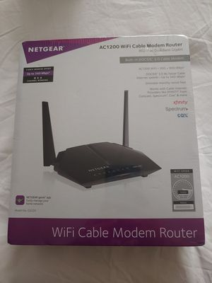 Netgear AC1200 router and modem for Sale in Rockville, MD