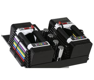 POWERBLOCK Adjustable Personal Trainer Set, 5 to 50 Pounds per Dumbbell (PAIR) for Sale in Smyrna, TN
