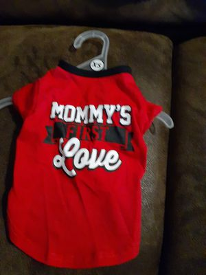 Mommy's first love red and black doggie shirt for Sale in Tulsa, OK