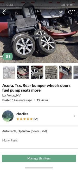 2005 Acura TSX. Parts for Sale in Las Vegas, NV