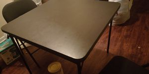 Folding Kitchen Table W/2 Folding Chairs and one Folding Stool for Sale in Lexington, KY
