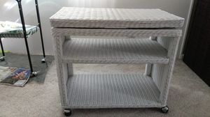 Wicker tv stand with two shelves for Sale in Sebastian, FL