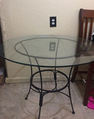 Glass kitchen table with metal frame for Sale in Sacramento, CA